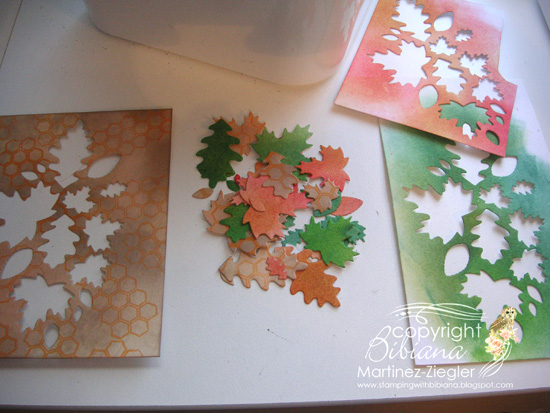 Fall leaves collage step 1