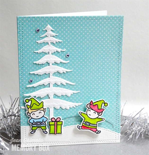 Christmas Elves clear stamp set