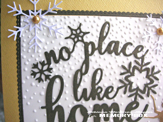 Xmas home gold detail top