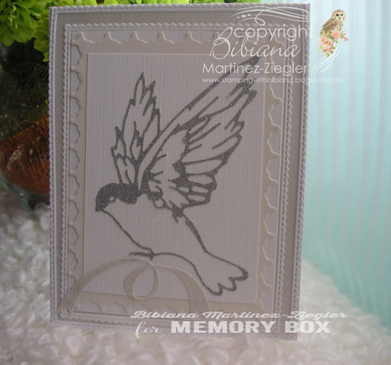 Xmas silver bird front