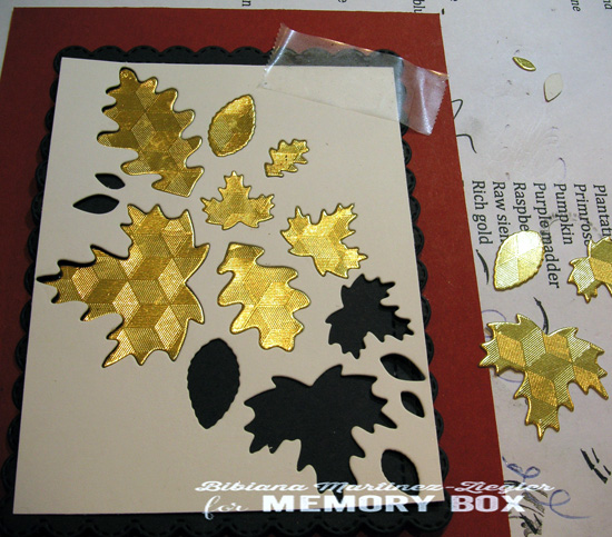 Fall gold leaves step 2