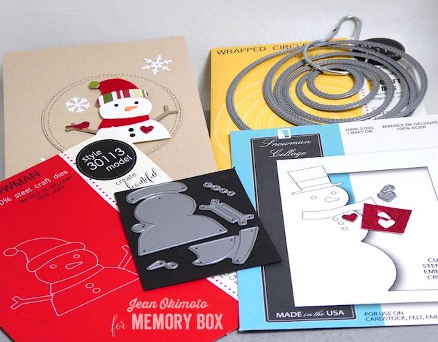 MemoryBoxBuildASnowman-MemoryBoxWrappedCircles-MemoryBoxSnowmanCollage-JeanOkimoto