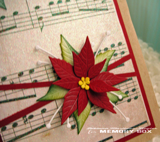 Xmas music poinsettia detail