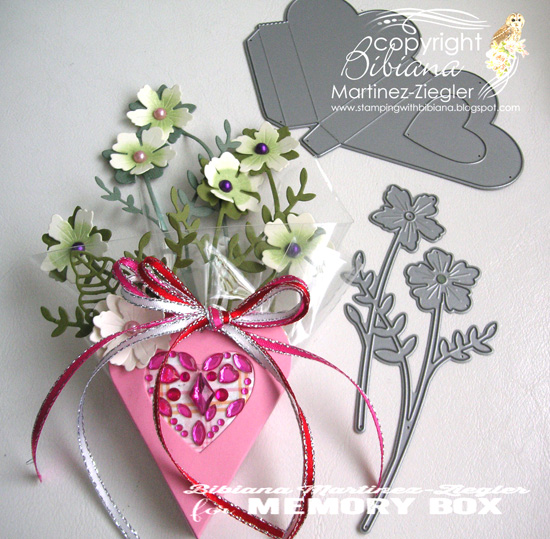Valentine heart box front