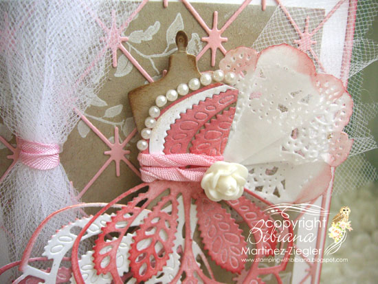 Pink dress form detail