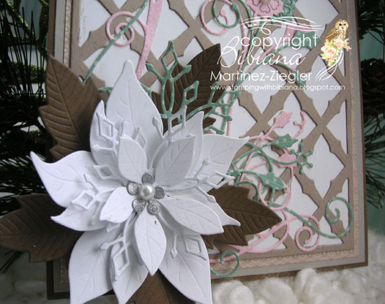 Poinsettia shabby chic detail