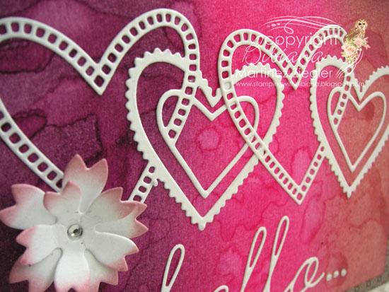 Hearts watercolor splats detail