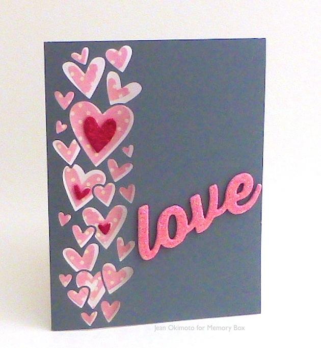 MemoryBox-MemoryBoxOpenStudio-HeartWaterfall-AllAboutTheLove-MiniHeartsCollection-JeanOkimoto-Valentine-GlitteredCraftFoam