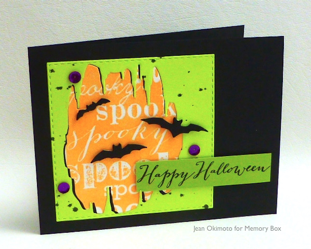MemoryBoxBatCave-MemoryBoxSpookyBackground-MemoryBoxHappyHalloween-OpenStudioStitchedSquareLayers-JeanOkimoto-ImagineCrafts-RadiantNeons-VersaFine-ImpressCardsandCrafts