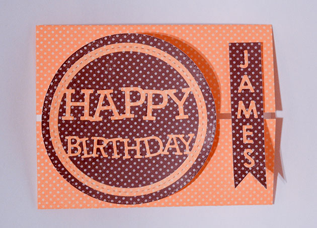 Stitched Happy Birthday Circle Frame