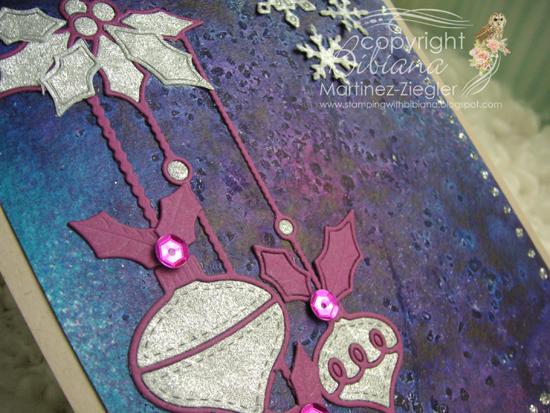 Misters glass ornaments purple detail