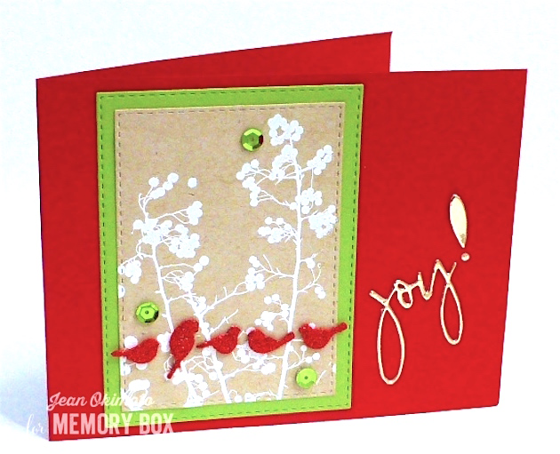 OpenStudioValleyBerries-OpenStudioStitched Rectangle Layers-MemoryBoxRestingBirds-MemoryBoxSketchbookJoy-JeanOkimoto-ImagineCrafts-ImpressCardsAndCrafts