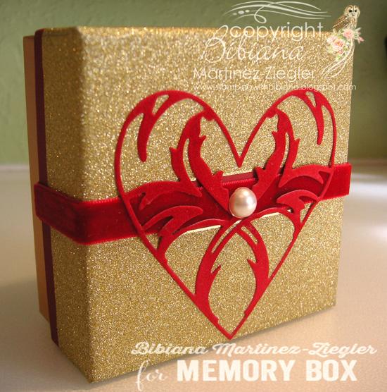 Heart box choco front