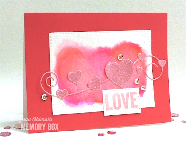 MemoryBoxHomespunHeart-MemoryBoxSwirlingStitches-OpenStudioStitchedRectangleLayers-OpenStudioSmileClearStamps-JeanOkimoto-PeerlessWatercolors-ImagineCrafts