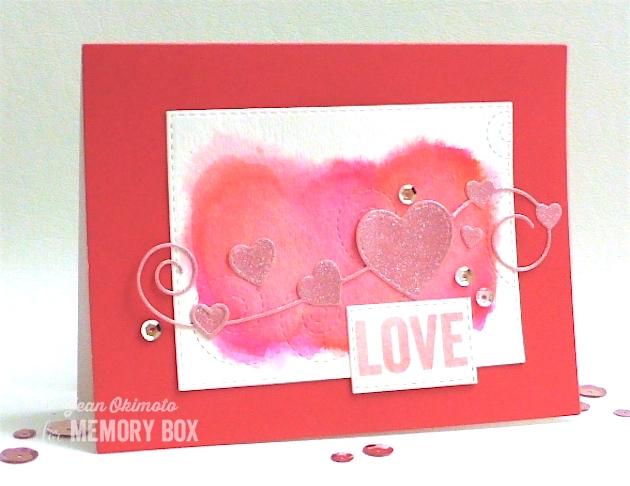 MemoryBoxHomespunHeart-MemoryBoxSwirlingStitches-OpenStudioStitchedRectangleLayers-OpenStudioSmileClearStamps-JeanOkimoto-PeerlessWatercolors-ImagineCrafts