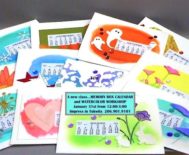 MemoryBoxCalendarAndWatercolorWorkshop-JeanOkimoto-ImpressCardsAndCrafts