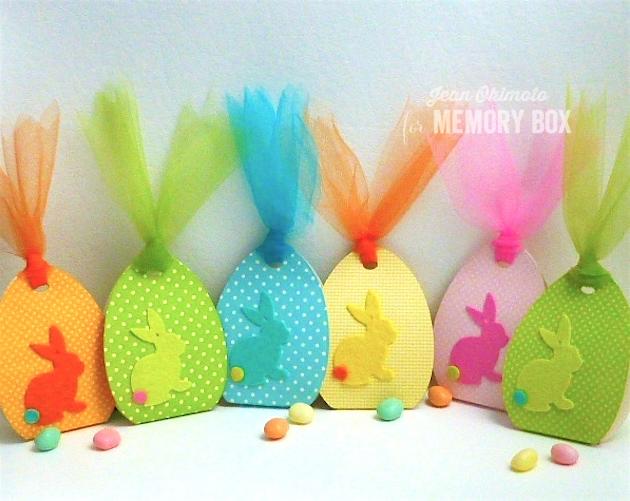 MemoryBoxHalfADozenEggs-MemoryBoxSketchBunnyBackground-MemoryBoxSignaturePatterns-JeanOkimoto-Easter-PartyFavors-ImpressCardsAndCrafts