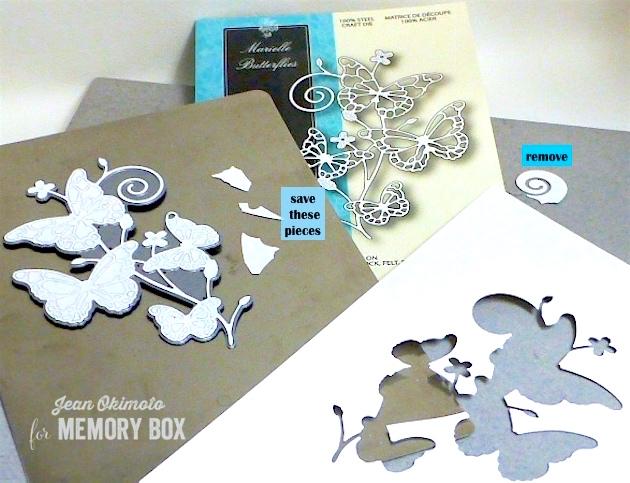 MemoryBoxMarielleButterflies-MemoryBoxFollowYourBliss-MemoryBoxPinpointRectangleLayers-JeanOkimoto-Kaleidacolors-Brilliance-ImpressCardsAndCrafts