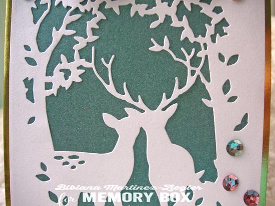 Collage deer detail