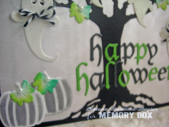 Halloween oak detail