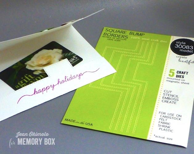 MemoryBoxSqiuareBumpBorders-JeanOkimoto-GiftcardHolder
