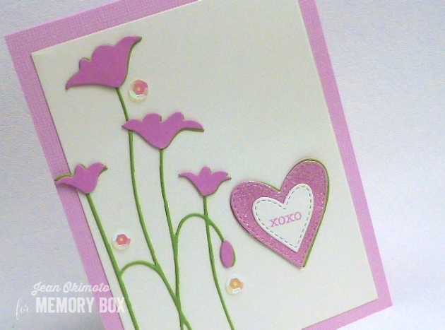 MemoryBoxTallPoppyLeftCorner-MemoryBoxRectangleBasicsSet-MemoryBoxClassicStitchedHeartCollection-MemoryBoxSoManyThingsToLove-JeanOkimoto-DiecutValentines-DiecutFlowerCards