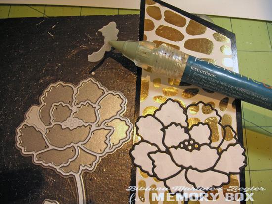 Bookmark flower inlay