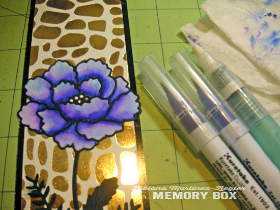 Bookmark flower brushes