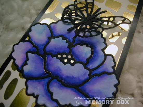 Bookmark flower color detail