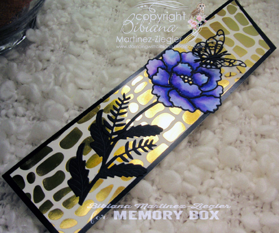 Bookmark flower flat