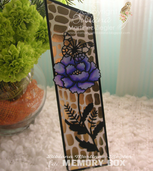 Bookmark flower front