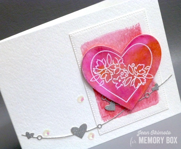 MemoryBoxCherubHearts-MemoryBoxHeartWire-MemoryBoxSoManyThingsToLove-MemoryBoxPinpointRectangleLayers-JeanOkimoto-PeerlessWatercolors-ImagineCraftsBrilliance-ImpressCardsAndCrafts-WatercoloredValentines