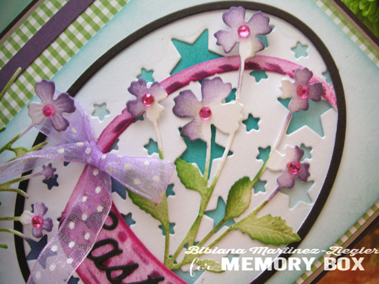Easter basket detail flowers