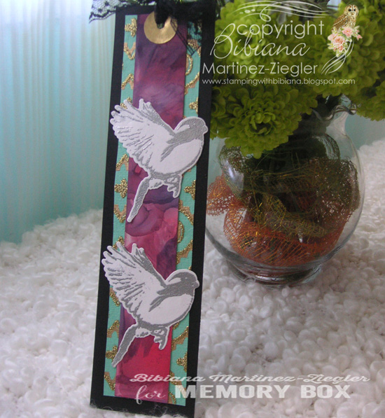 Bookmark bird side