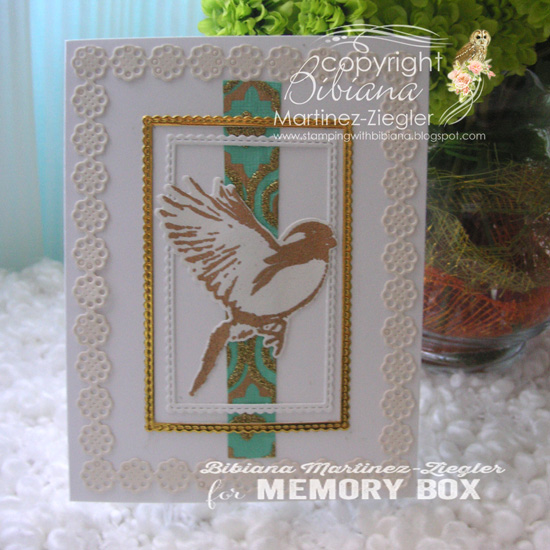 Bird gold  and white front