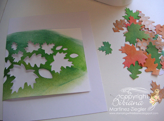 Fall leaves collage step 2