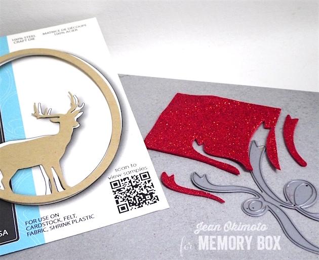 MemoryBoxSingleDeerOval-MemoryBoxCurledRibbons-JeanOkimoto