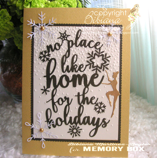 Xmas home gold front