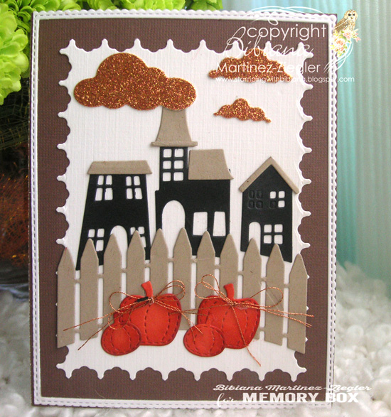 Halloween trio houses front