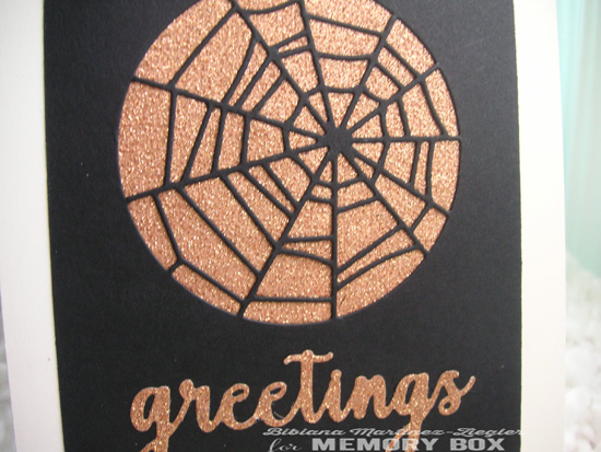 Hallowen copper web detail
