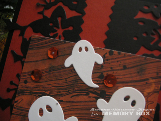 Halloween ghosts bats detail