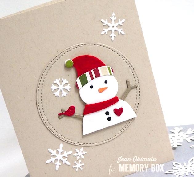 MemoryBoxBuildASnowman-MemoryBoxWrappedCircles-MemoryBoxRestingBirds-MemoryBoxSnowmanCollage-JeanOkimoto-MemoryBoxDiecutCards-MemoryBoxChristmasCards-SnowmanCards-DiecutSnowman-SnowflakeCards-ImpressCardsAndCrafts