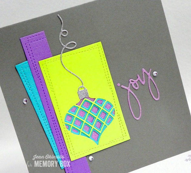MemoryBoxClassicOrnamentTriplet-MemoryBoxSketchbookJoy-MemoryBoxWrappedStitchRectangles-MemoryBoxMillbrookOrnament-JeanOkimoto-ImpressCardsAndCrafts