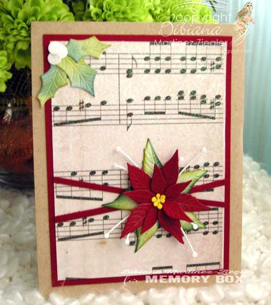 Xmas music poinsettia front