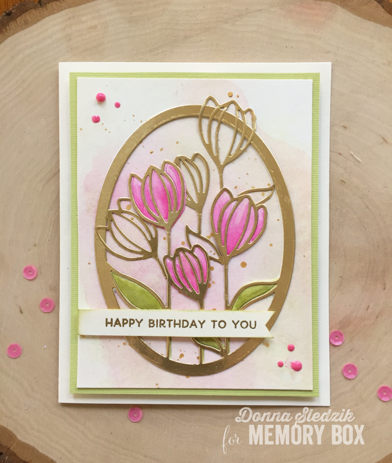 To Create This Card I Die Cut The Floral Bloom Oval Frame Three Times Once From Watercolor Paper And Twice Gold Metallic Kept Inside