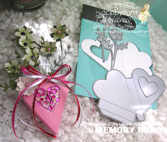 Valentine heart box front supplies