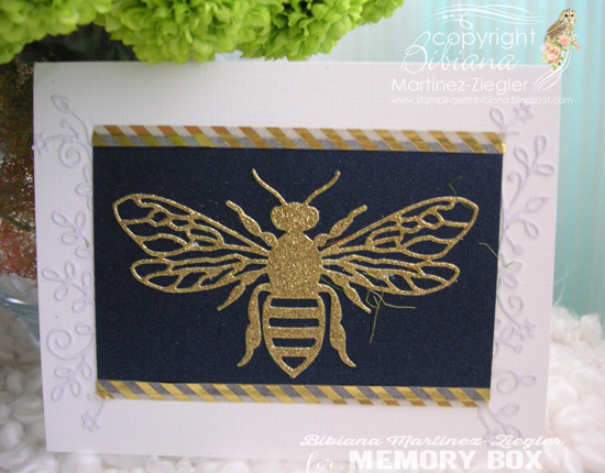 Gold bee front