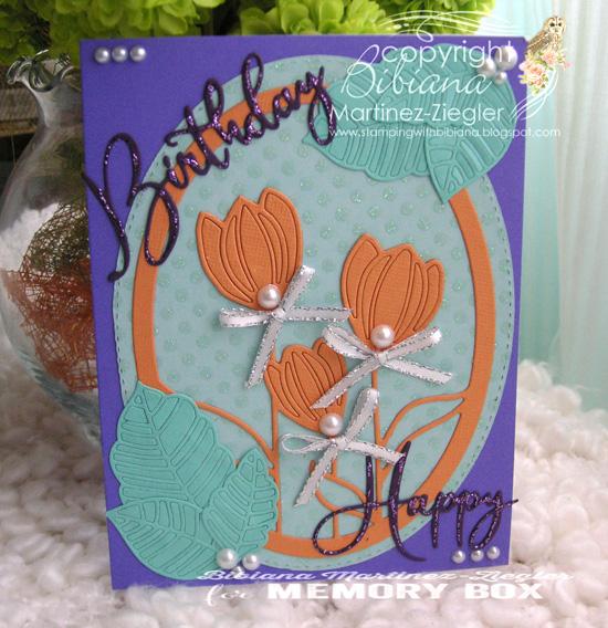 Orange tulips front