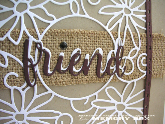 PPS burlap friend detail