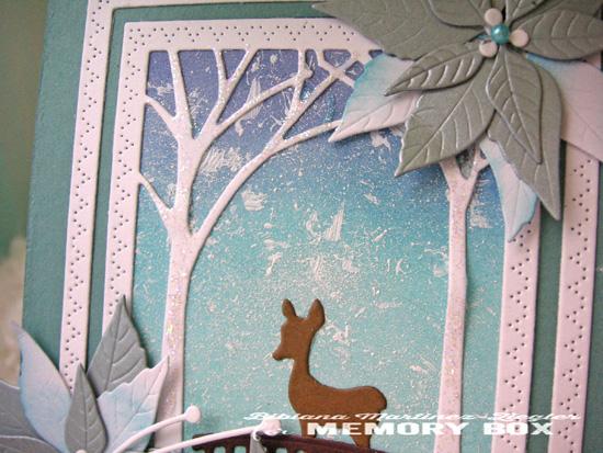 Xmas scene deer detail
